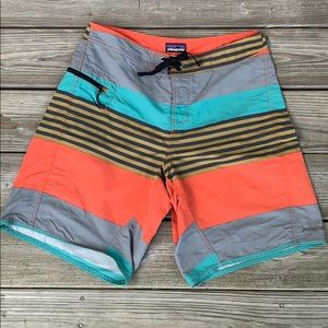 Patagonia Striped Board Shorts. 32